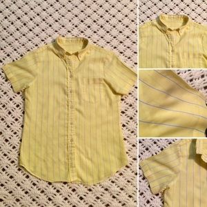 New listing! Vintage Cotton Striped Button Down